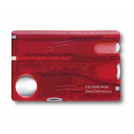 Multitool Victorinox SwissCard Nailcare transparentna czerwona