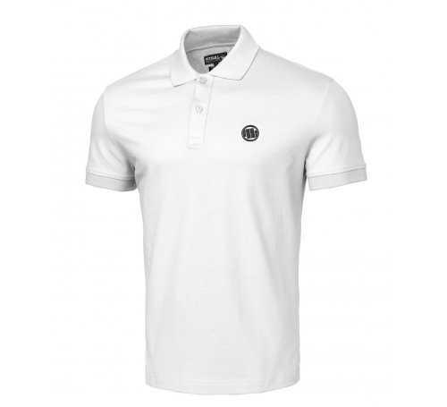 Koszulka Polo Pit Bull Slim Logo '21 - Biała 210203.0001