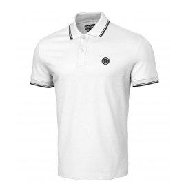 Koszulka Polo Pit Bull Slim Logo Stripes '21 - Biała