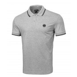 Koszulka Polo Pit Bull Slim Logo Stripes '21 - Szara