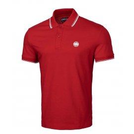 Koszulka Polo Pit Bull Slim Logo Stripes '21 - Czerwona