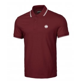 Koszulka Polo Pit Bull Slim Logo Stripes '21 - Bordowa
