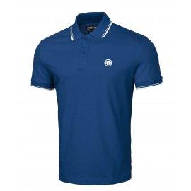 Koszulka Polo Pit Bull Slim Logo Stripes '21 - Niebieska