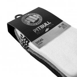 Skarpetki Pit Bull Pad II TNT cienkie (3-pak) - Białe/Szare/Grafitowe