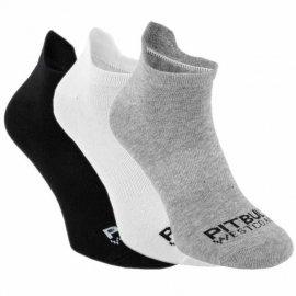 Skarpetki Pit Bull Pad II TNT cienkie (3-pak) - Białe/Szare/Czarne