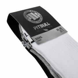 Skarpetki Pit Bull Pad TNT cienkie (3-pak) - Białe/Szare/Grafitowe