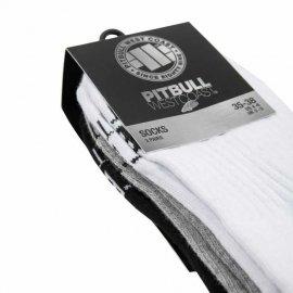 Skarpetki Pit Bull Pad TNT grube (3-pak) - Białe/Szare/Grafitowe