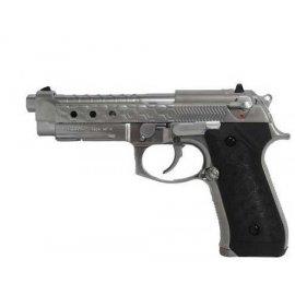 Pistolet 6mm Cybergun M92 Hex cut silver gas HOPUP