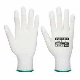 Rękawica nylonowa z palcami powlekanymi PORTWEST A121PU Biały
