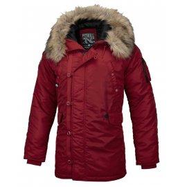 Zimowa kurtka z kapturem Pit Bull Alder '20 - Bordowa