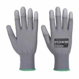 Rękawica nylonowa z palcami powlekanymi PORTWEST A121 PU-Szary