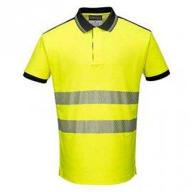 Koszulka Polo ostrzegawcza PW3 PORTWEST T180 - Żółty/Czarny