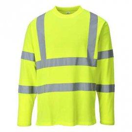 T-shirt ostrzegawczy z długimi rękawami PORTWEST S278 - Żółty