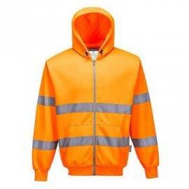 Bluza ostrzegawcza z kapturem zapinana na zamek błyskawiczny PORTWEST B305 - Pomarańczowy