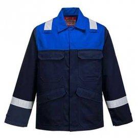 Bluza trudnopalna Bizflame Plus PORTWEST FR55 - Granat/Niebieski