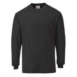 T-shirt z długimi rękawami, antystatyczny, trudnopalny FR11 Portwest-Czarny