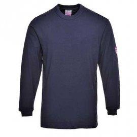 T-shirt z długimi rękawami, antystatyczny, trudnopalny FR11 Portwest-Granatowy