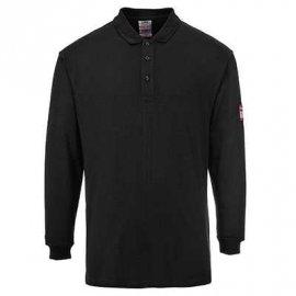 Koszulka Polo z długim rękawem, trudnopalna, antystatyczna PORTWEST FR10-Czarny