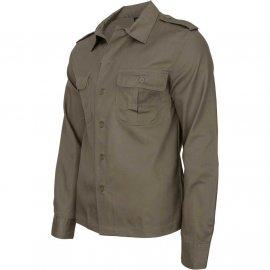 Koszula z długim rękawem BRANDIT US Shirt - Olive