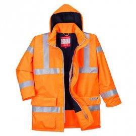 Wodoodporna kurtka ostrzegawcza trudnopalna i antystatyczna Bizflame Rain S778 Portwest-Pomarańczowy
