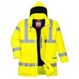 Wodoodporna kurtka ostrzegawcza trudnopalna i antystatyczna Bizflame Rain S778 Portwest-Żółty