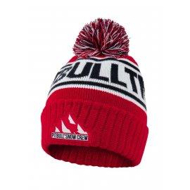 Czapka zimowa Pit Bull Fleming'20 - Czerwona/Granatowa