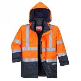 BizFlame Rain wielofunkcyjna, wodoodporna kurtka ostrzegawcza S779 Portwest-Pomarańcz/Granat