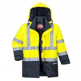 BizFlame Rain wielofunkcyjna, wodoodporna kurtka ostrzegawcza S779 Portwest-Żółty/Granatowy