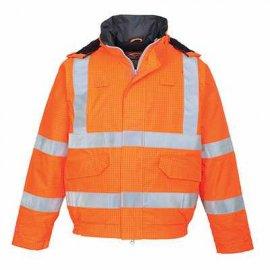Trudnopalna kurtka ostrzegawcza i antystatyczna Bomber Bizflame Rain S773 Portwest-Pomarańczowa
