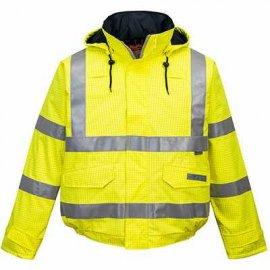 Trudnopalna kurtka ostrzegawcza i antystatyczna Bomber Bizflame Rain S773 Portwest-Żółta