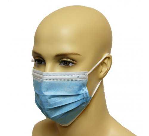 Maska medyczna PORTWEST typu IIR Niebieska P030BLU 5036146012428