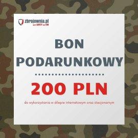 Bon podarunkowy Zbrojownia o wartości 200 zł