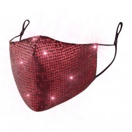 Maska ochronna z cekinami na twarz - czerwona na Filtr FFP2 N95 PM2.5