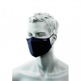 Dwuwarstwowa maska anty mikrobowa z taśmą nosową granatowa