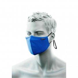 Dwuwarstwowa maska anty mikrobowa z taśmą nosową niebieska