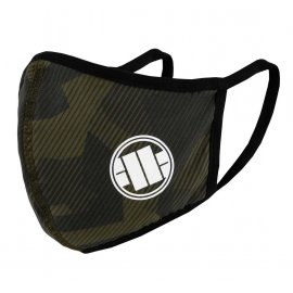 Maska ochronna Pit Bull Camo Logo '20 - Oliwkowa