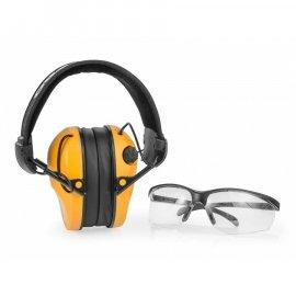 Słuchawki RealHunter Active PRO pomarańczowe + okulary