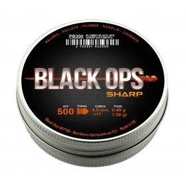 Śrut diabolo SHARP pointed Black Ops 4,5 mm 500 szt