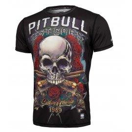 Rashguard termoaktywny Pit Bull Performance Pro Plus Mesh Santa Muerte '21 - Czarny