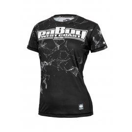 Rashguard termoaktywny damski Pit Bull Performance Pro Plus Mesh Alameda Boxing '21 - Czarny