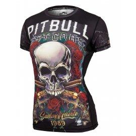Rashguard termoaktywny damski Pit Bull Performance Pro Plus Mesh Santa Muerte '21 - Czarny