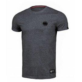 Koszulka Pit Bull Custom Fit Melange Small Logo '21 - Czarny Melanż