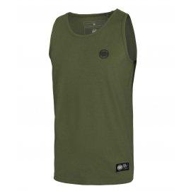 Tank Top Pit Bull Slim Fit Lycra Small Logo '21 - Oliwkowy