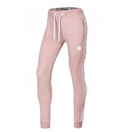 Spodnie dresowe damskie Pit Bull French Terry Small Logo '21 - Różowe