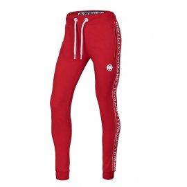 Spodnie dresowe damskie Pit Bull French Terry Small Logo '21 - Czerwone