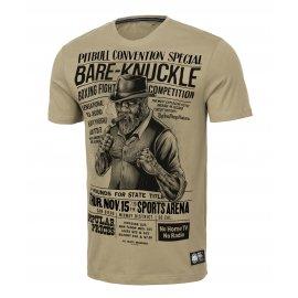 Koszulka Pit Bull Garment Washed Bare-Knuckle '21 - Piaskowa