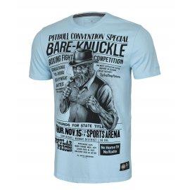Koszulka Pit Bull Garment Washed Bare-Knuckle '21 - Błękitna