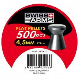 Śrut Flat SWISS ARMS 4,5mm High quality 500szt