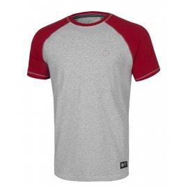 Koszulka Pit Bull Garment Washed Raglan Small Logo '21 - Szara/Czerwona