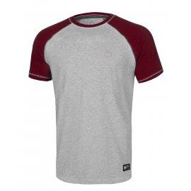 Koszulka Pit Bull Garment Washed Raglan Small Logo '21 - Szara/Bordowa